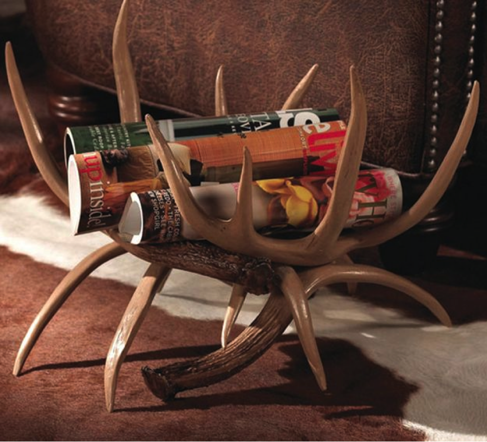 Magazine deer antler rack